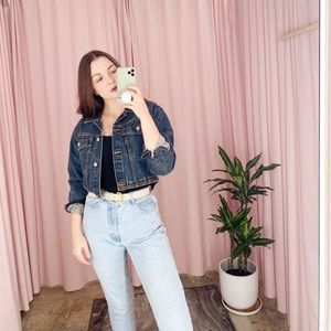 Vintage Jordache 80s 90s Crop Denim Jean Jacket